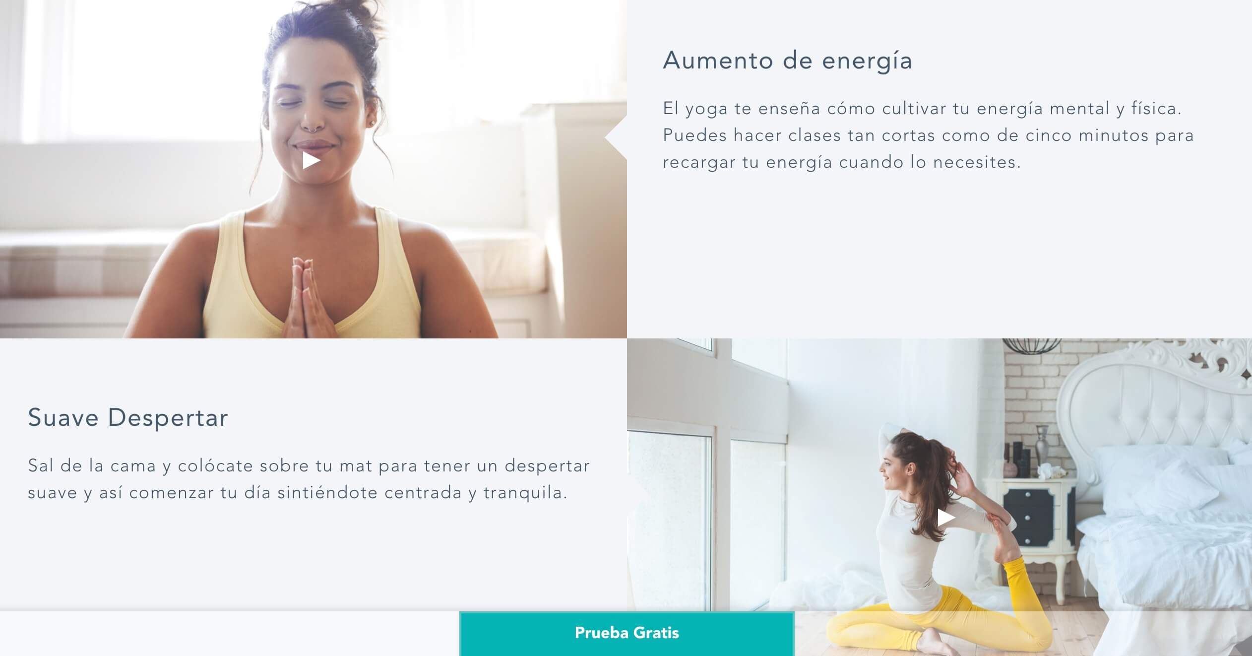 Ejemplo de diseño web de una academia virtual: Academia virtual de yoga Gaia