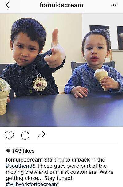 Pie de foto de Instagram con hashtags y un toque divertido de FOMU Ice Cream