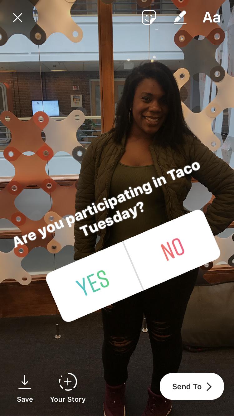 encuesta en historias de instagram