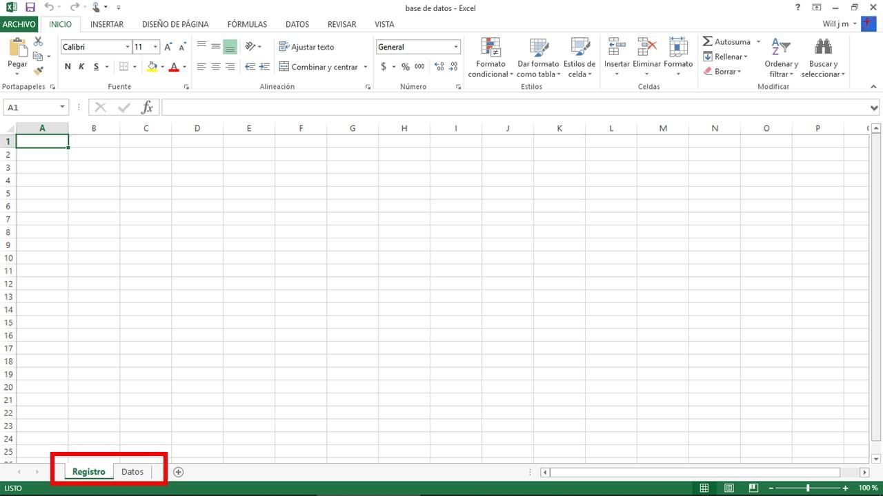 Cómo hacer una base de datos en Excel: hojas de registro y datos