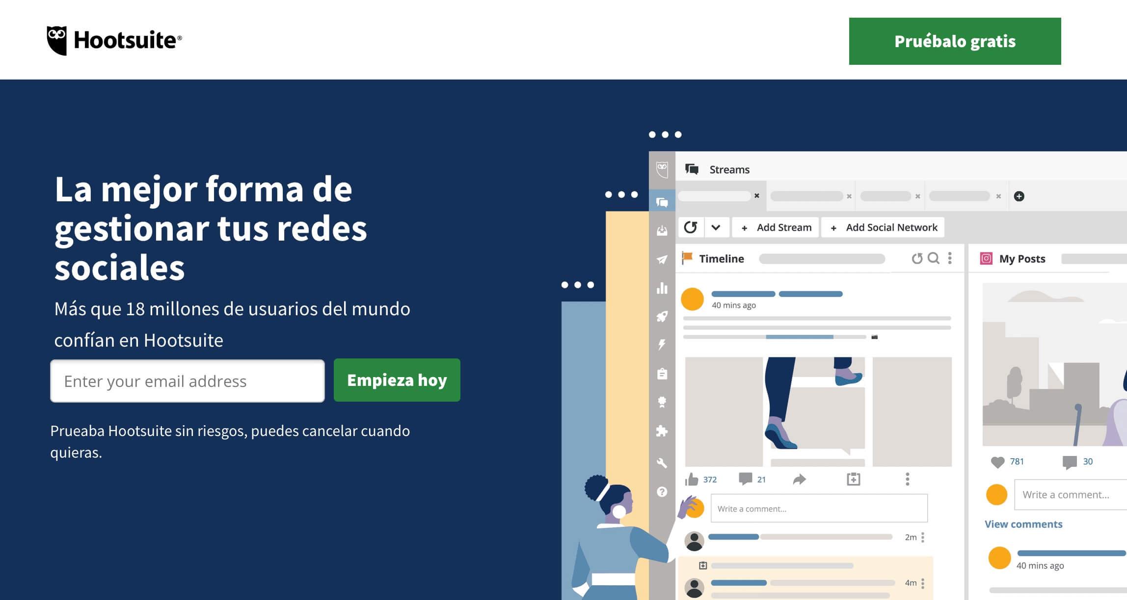 Herramientas para publicidad digital: Hootsuite, gestor de redes sociales