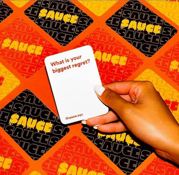 Ejemplo de la agencia creativa Huge: tarjeta de juego