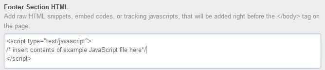 Script a pie de página en HubSpot