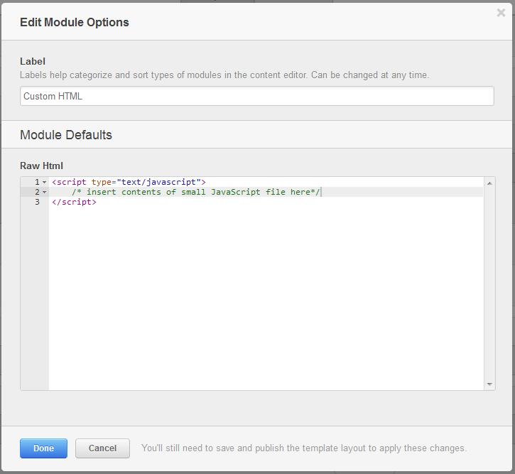 Script en módulo HTML de HubSpot