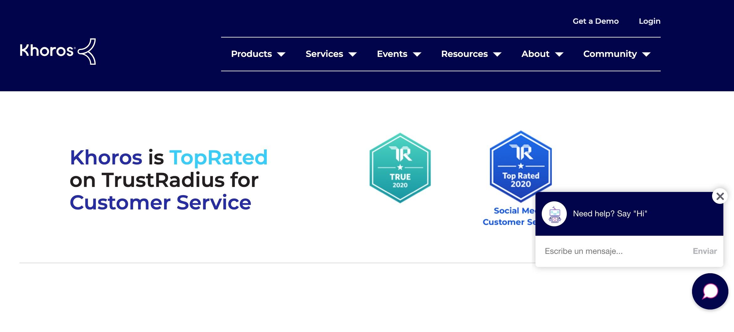 Herramienta para gestión de experiencia del cliente: Khoros