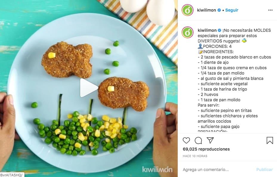 Marketing en Instagram: ejemplo de publicación de @kiwilimon