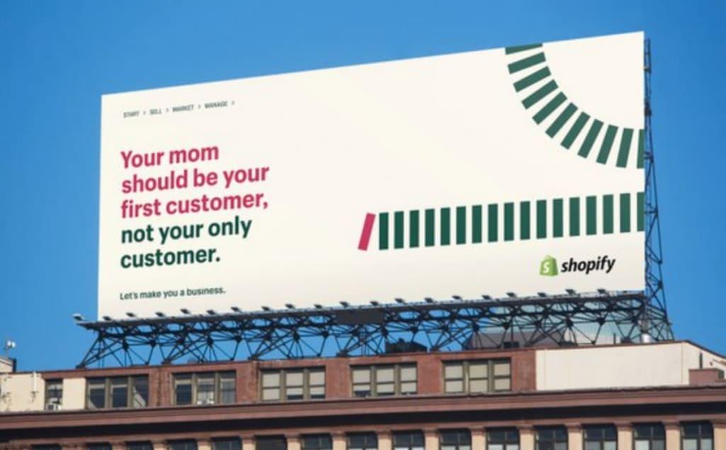 """Espectacular de Shopify para su campaña """"Let's make you a business"""""""