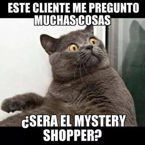 Meme de ventas sobre el mystery shopper