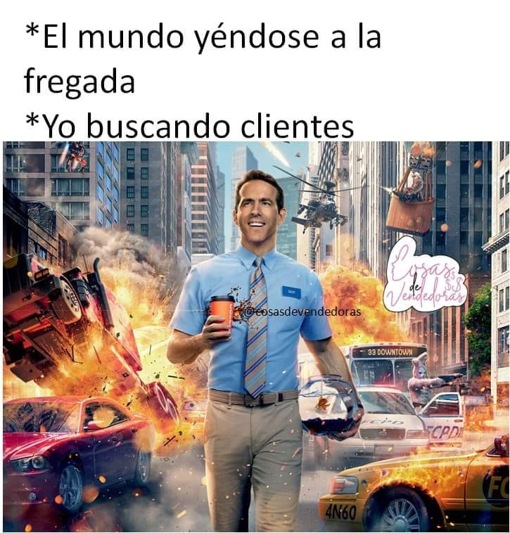 Meme sobre el entusiasmo por las ventas