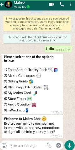 Ejemplo de mensaje de bienvenida de WhatsApp para dar a conocer ubicación