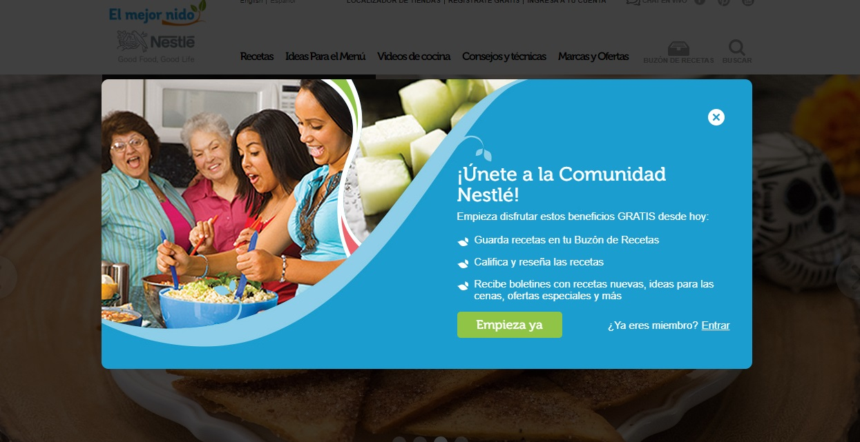 Nestlé, ejemplo de contenido inteligente en empresas