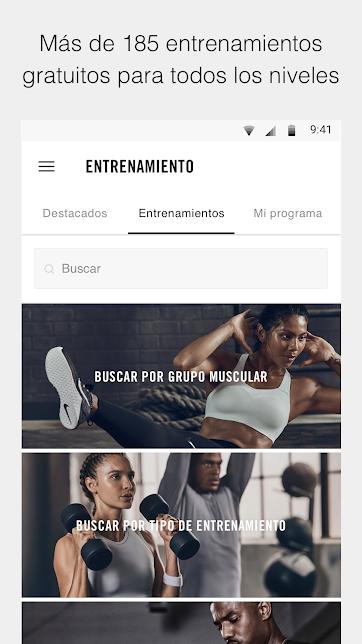 App de Nike como parte de su estrategia de contenido y periodismo de marca