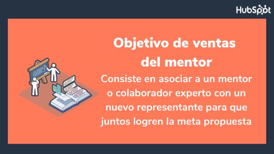 Objetivo de ventas del mentor