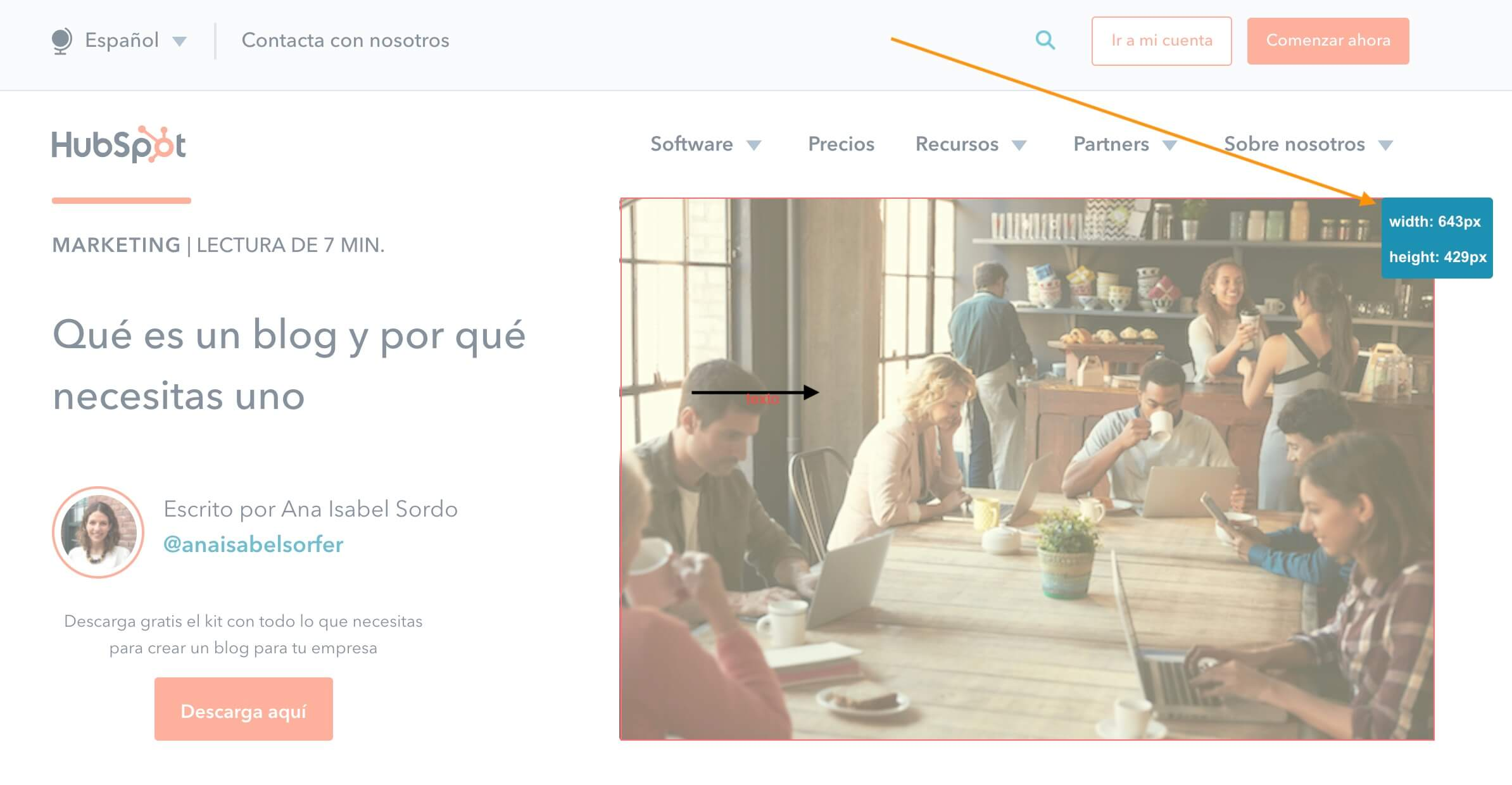 Page Ruler, extensión para Google Chrome