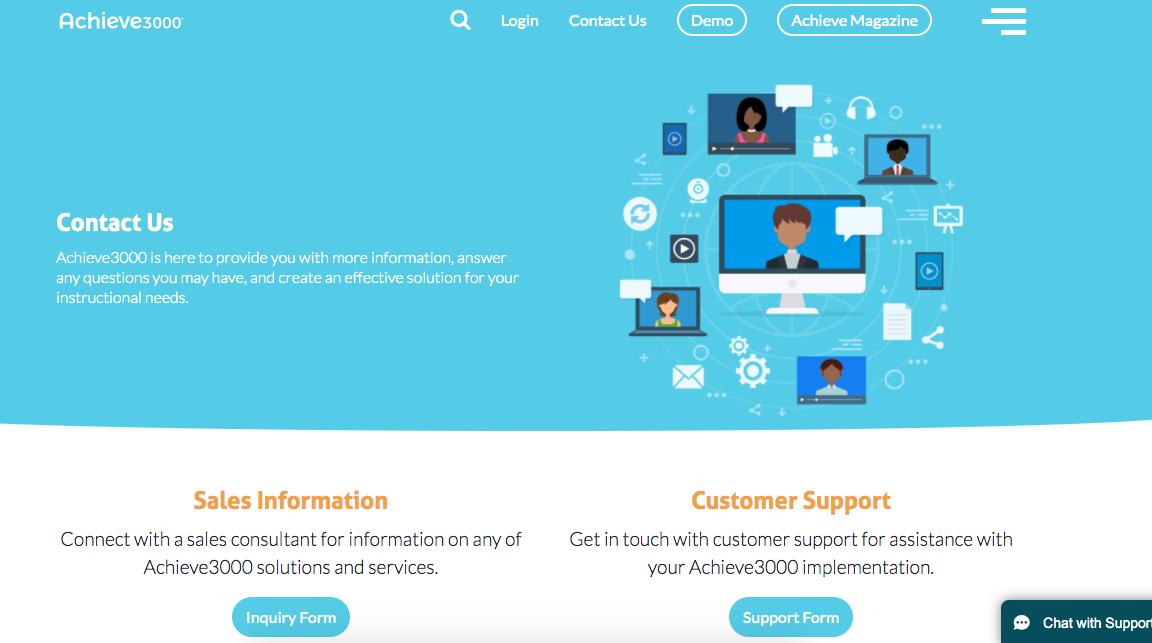 Ejemplo de página de contacto para distinto tipo de usuarios