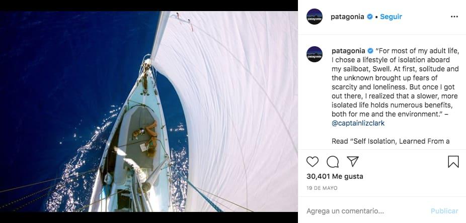 Cómo tomar una buena foto de marca en Instagram: ejemplo de @patagonia