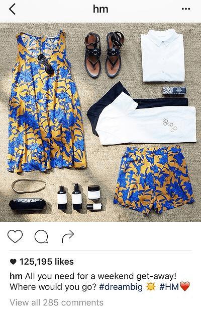 Ejemplo de pie de foto de Instagram con pregunta de HM
