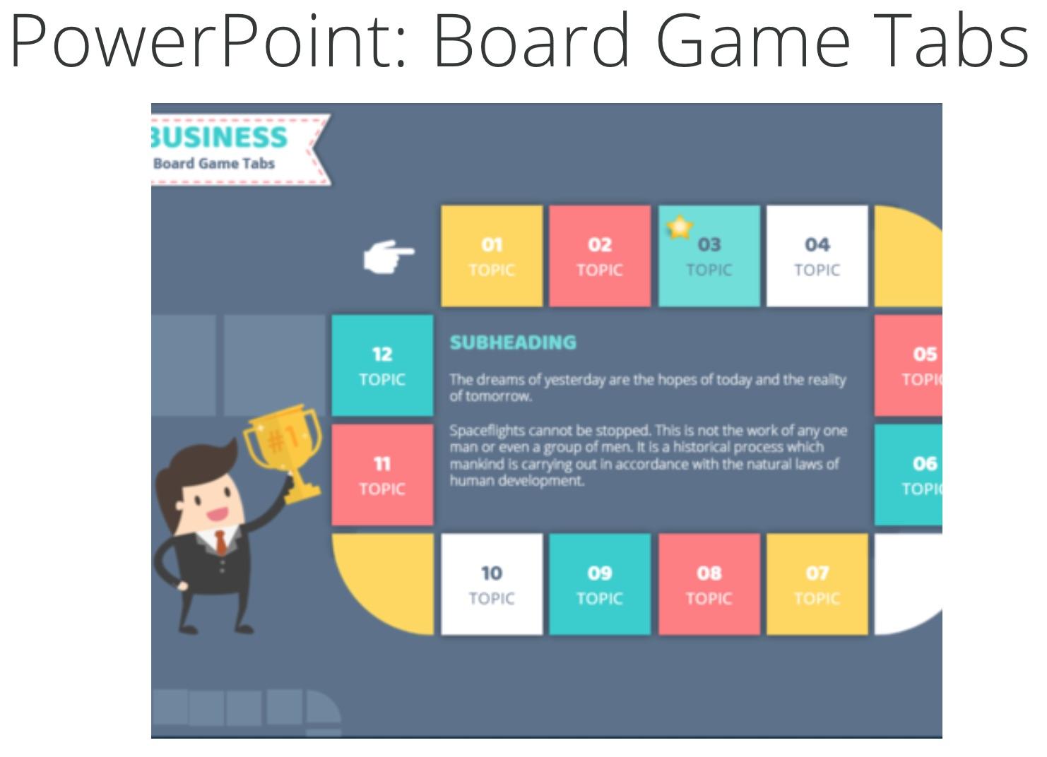 Board Game: plantilla de PowerPoint creativa gratis