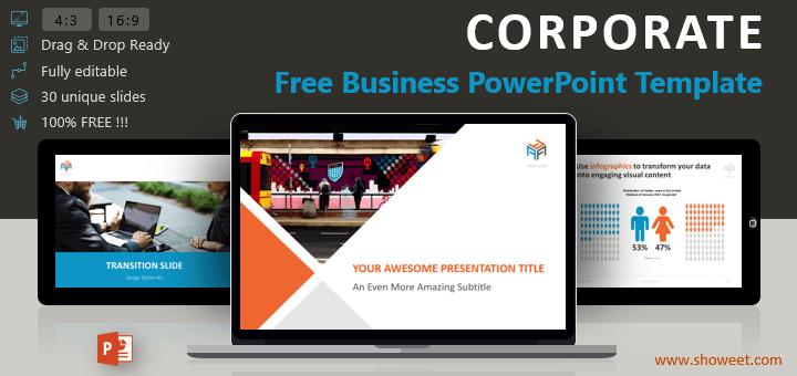 Corporate: plantilla gratuita de PowerPoint para presentaciones elegantes