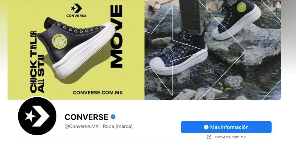 Ejemplo de foto de portada impactante de Facebook para página de empresa: Converse
