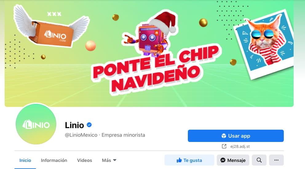 Ejemplo de foto de perfil reconocible en Facebook: Linio México