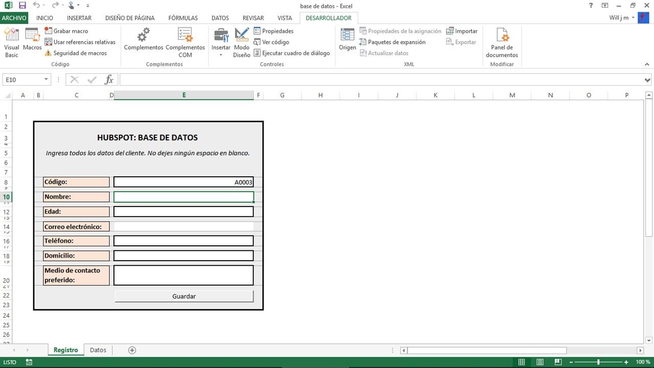 Cómo hacer una base de datos empresarial en Excel
