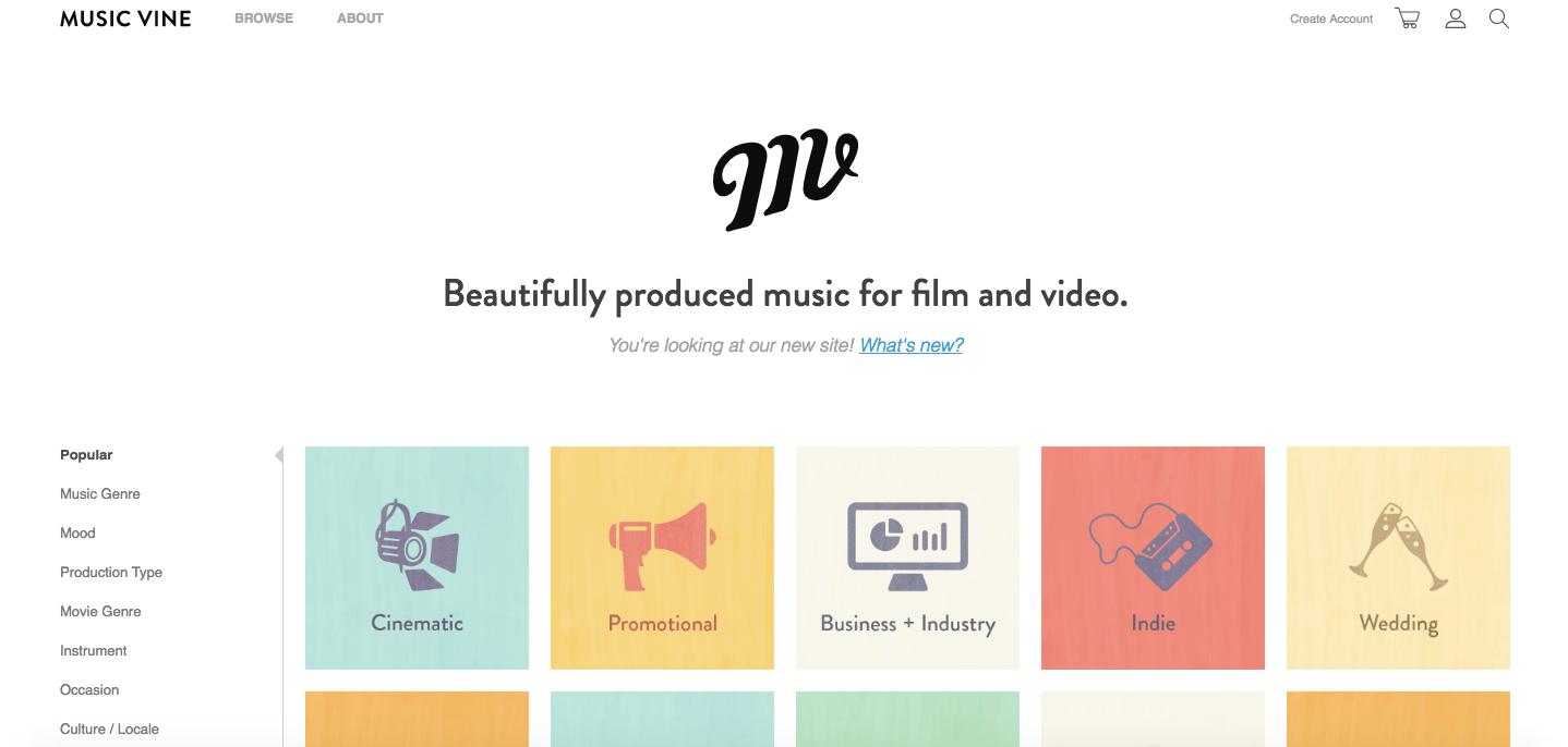 música gratis para videos musicvine