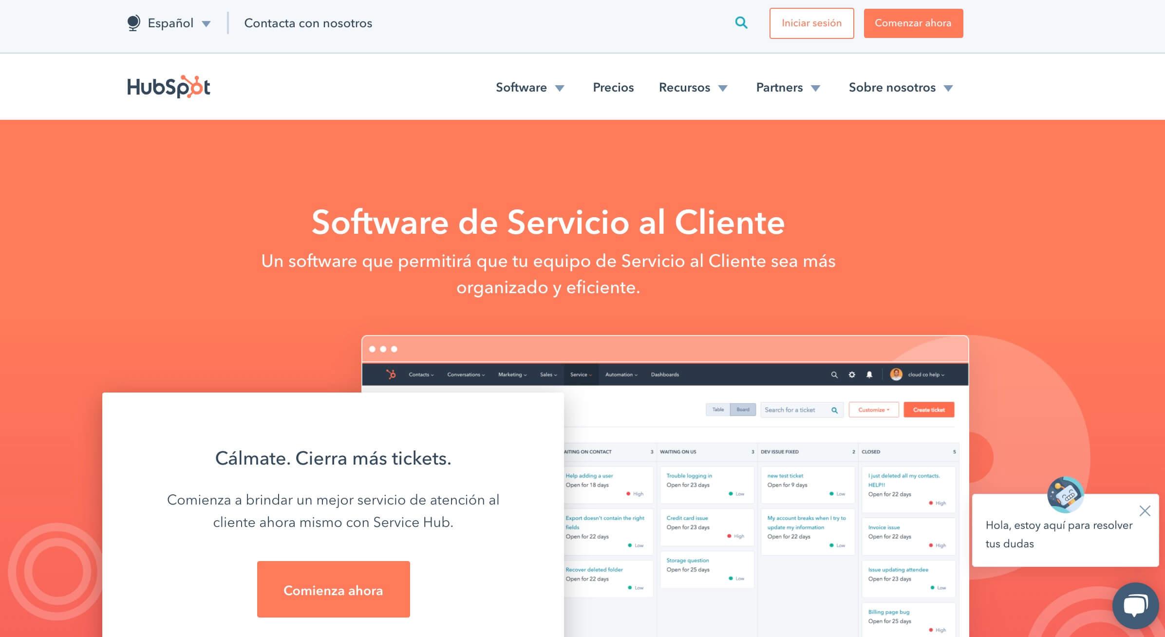 Herramienta de gestión de customer experience: Service Hub
