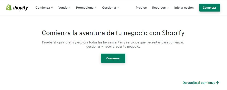 Shopify, ejemplo de contenido inteligente