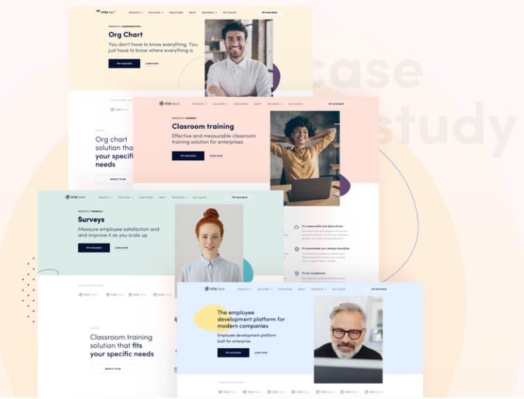 Tendencias de diseño web: ejemplo de colores confortables