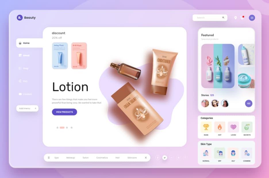 Tendencias de diseño web en 2021: productos