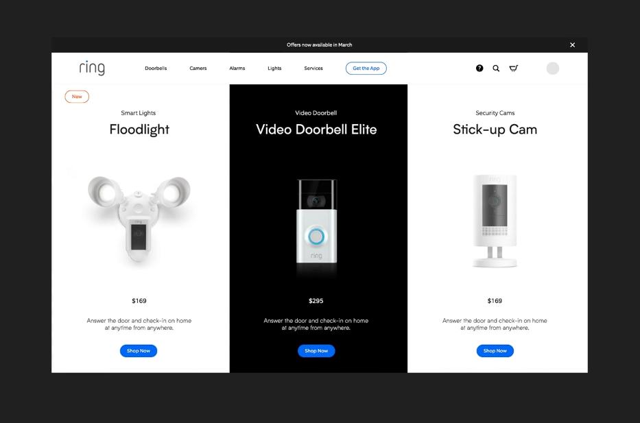 Tendencias de diseño web: uso de productos