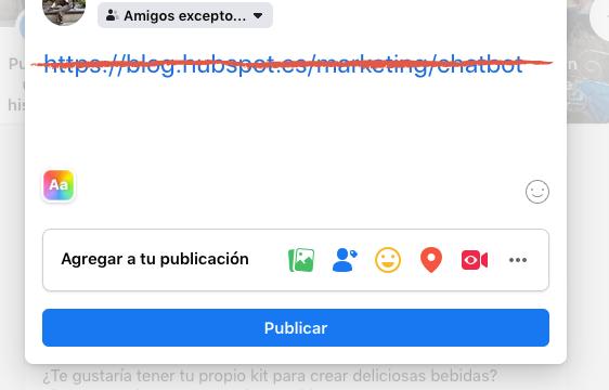 Consejos para empresas en Facebook: elimina los enlaces del texto de las publicaciones