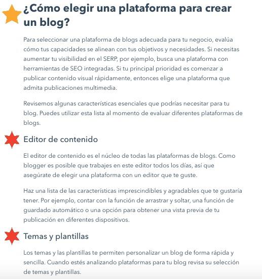 Cómo escribir un blog: encabezados