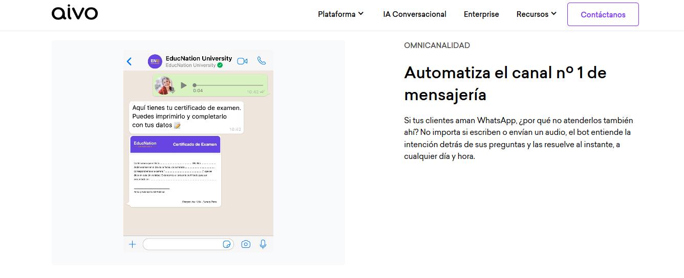 Aivo: Herramienta para hacer un WhatsApp bot