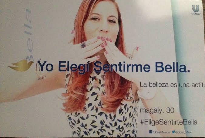 Foto de la campaña publicitaria interactiva de Dove en México