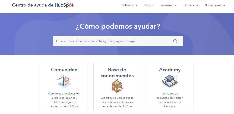 Ejemplo de los pasos para incorporación de clientes de HubSpot