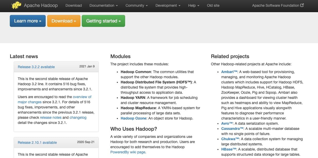 Herramienta de big data para una empresa: Apache Hadoop