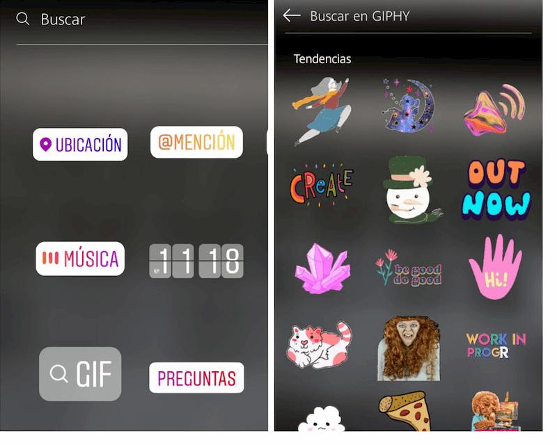 Cómo buscar un GIF en Instagram