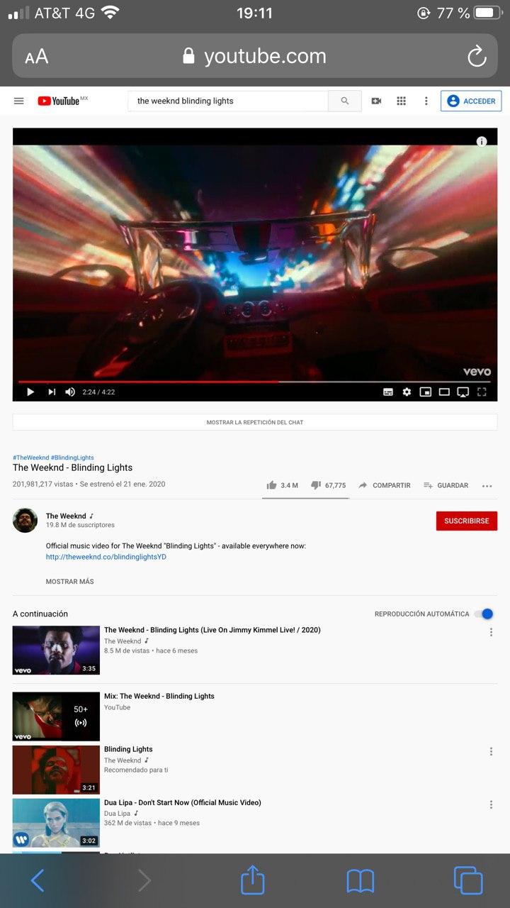 Características de YouTube para escuchar audio en segundo plano