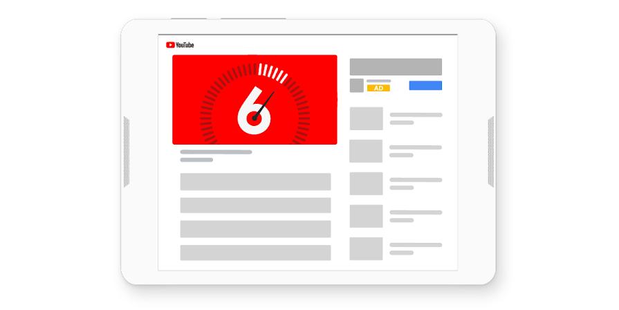 Características de YouTube para anuncios bumber