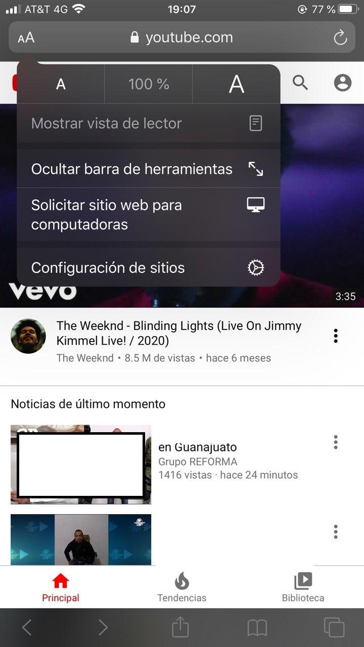Características de YouTube para escuchar en segundo plano