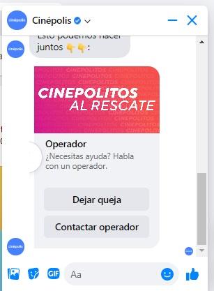 Opciones de autoservicio al cliente: Cinépolis