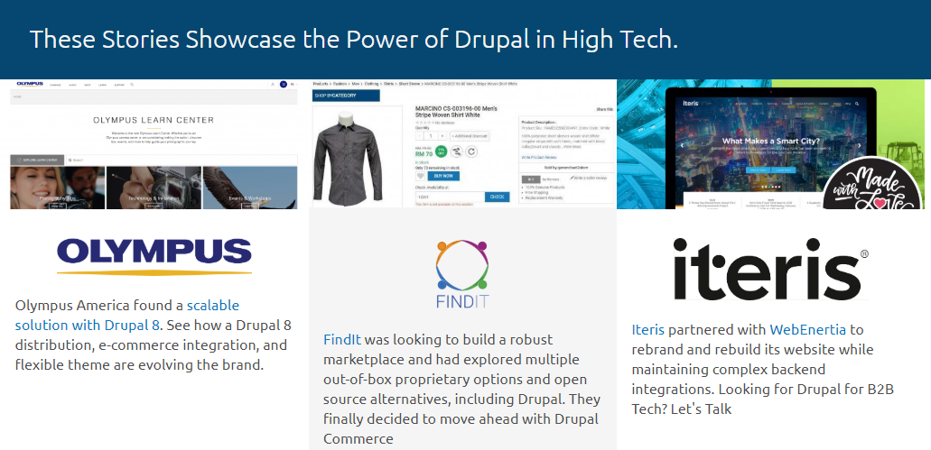 Ejemplos de CMS: Drupal