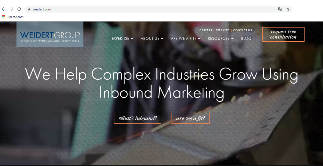 Para qué sirve un gestor de contenidos: visualización de interfaz de sitio web