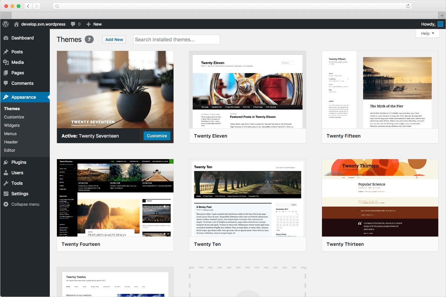 Ejemplos de CMS: WordPress