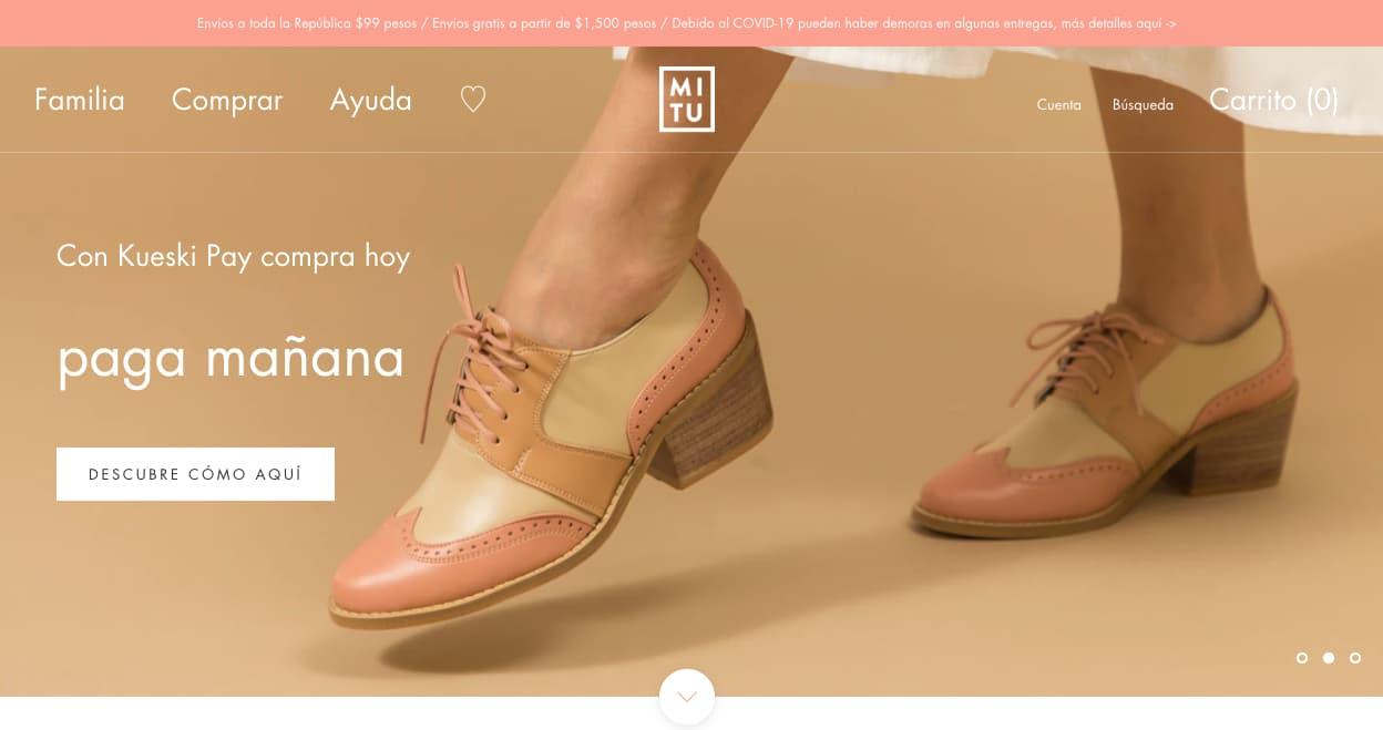 Colores para páginas web, ejemplo de tendencia de colores apagados