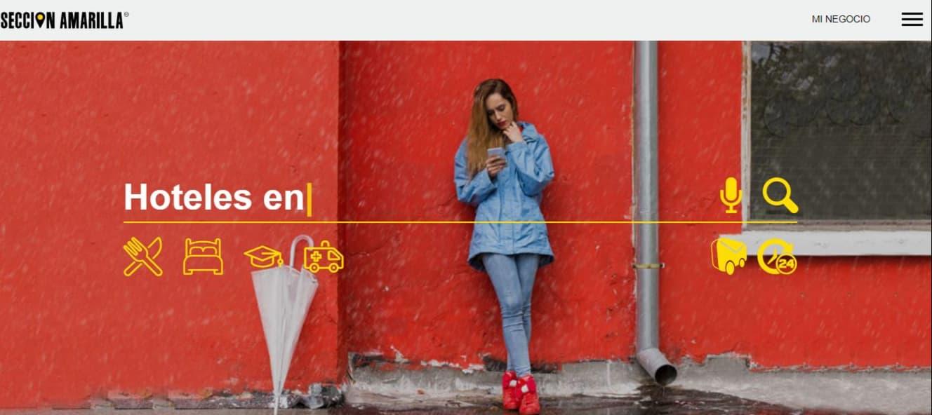 Colores para páginas web de Sección Amarilla