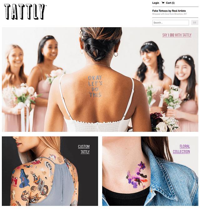 Tattly, ejemplo de tienda de e-commerce