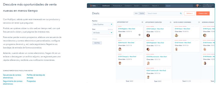 HubSpot Sales: la mejor herramienta para incrementar las ventas